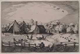 Bleekvelden bij de Haarlemmerhout onder Heemstede. Gravure door Cl. Jsz. Visscher, 1607