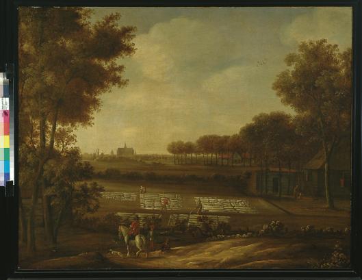 Een blekerij aan de duinrand van Haarlem, Crayenest Heemstede, Anoniem schilderij uit tweede helft 17e eeuw, Frans Hals Museum