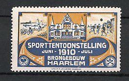 Sluitzegel Sporttentoonstelling in Brongebouw Haarlem 1910