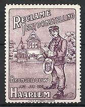 Reclamezegel Brongebouw Haarlem 1909