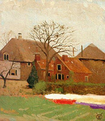Boerderij Bronstee in Heemstede, in 1906 geschilderd door Gerrit Willem Dijsselhof