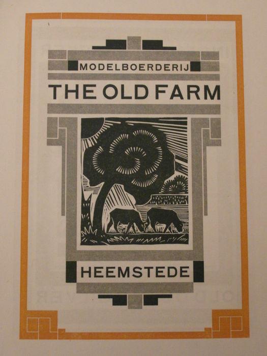 Houtsnede, uitgegeven door Joh. Enschede en Zonen, 1924