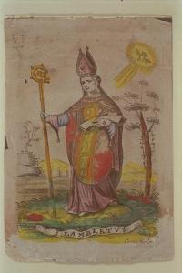 Sint Lambertus gegraveerd door Cornelis van Merlen