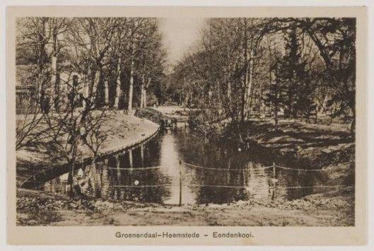 Ansichtkaart eendenkooi, Groenendaal Heemstede