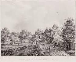 Hetzelfde punt als de foto daarvoor, maar nu in 1842 op een lithografie van P.J.Lutgers uit circa 1842.