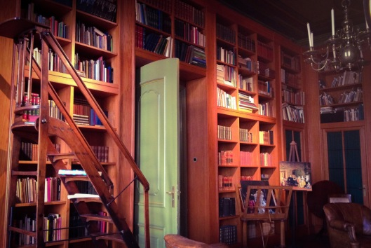 Bibliotheekkamer in Geelvinck-Hinlopen Huis