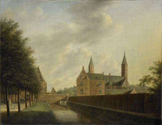 Zwanen in de slotgracht van het Huis te Heemstede. Schilderij van Jan Janson, 1766 (Rijksmuseum)