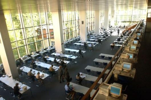 Leeszaal van de Bayerische Staatsbibliothek in München