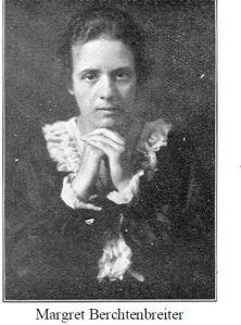 Portret van de Belgische Margret Grisar die in 1918 huwde met de Duitse architect Hanns Carl Breitenbacher