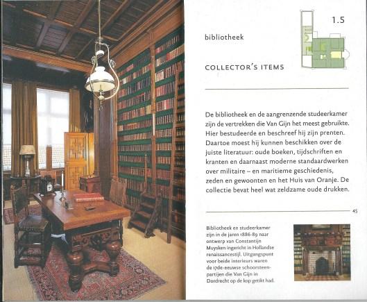 Bibliotheek en studeerkamer in Museum Van Gijn, Dordrecht, in 1886-1889 ontworpen door Constantijn Muijsken in Hollandse Renaissancestijl.