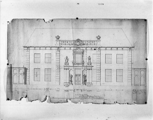 Ontwerp voor hoofdgebouw van Meer en Berg, toegeschreven aan Daniel Marot (Rijksdienst voor het Cultureel Erfgoed)