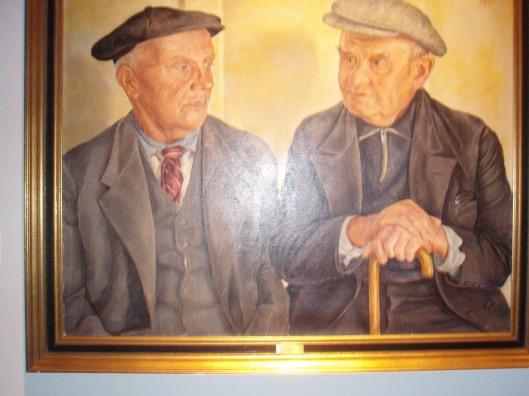 Schilderij door Lily van Cleeff, geschonken aan de gemeente Heemstede. Het in 1951 in haar huis aan de Zomerlaan geschilderd dubbelportret is genoemd 'de Tramhalte' en stelt voor de heren Van der Klashorst en rechts Pieter Leuven ('de Oliebol'), zoals ze destijds te vinden waren bij de tramhalte op de hoek van de Camplaan en Valkenburgerlaan.