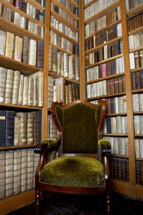 Deel van bibliotheek in het Palthehuis