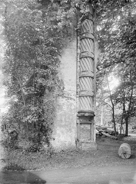 Restant watertoren Meer en Berg. Houten buis, 1928