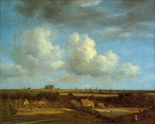 De duinen en blekerijen rond Haarlem vanuit Bloemendaal. Schilderij door Jacob van Ruisdael, circa 1670 (Gemäldegalerie Berlin)