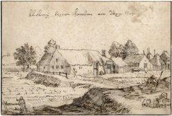 Blekerij buiten Haarlem bij de duinen van Santpoort door Claes Janszoon Visscher, 1607 (N.H.Archief)