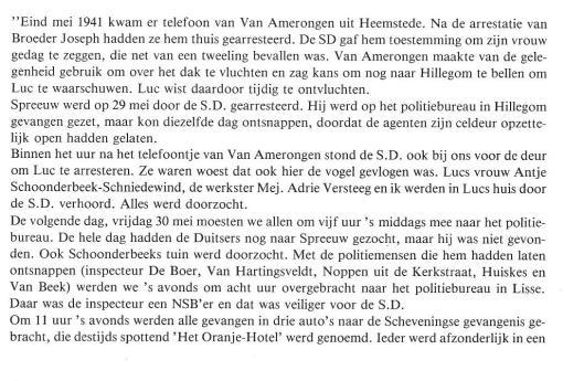 Over Lucas Schoonderbeek. Uit: 'Hillegom '40-'45'