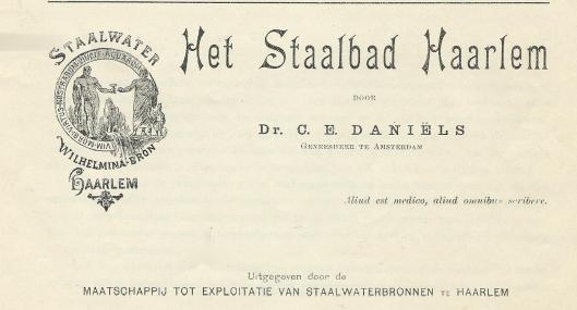 Titelblad van bovenstaande uitgave over het staalblad van Haarlem uit 1895