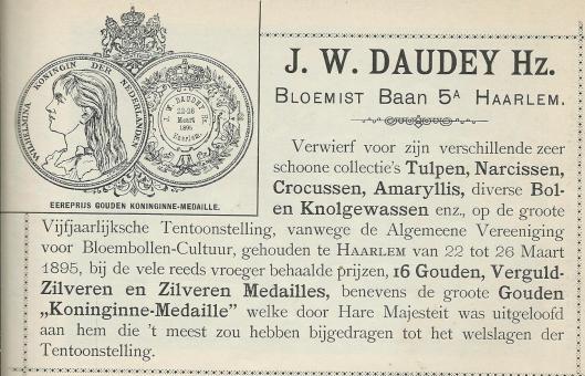 Bloemist J.W.Daudey, Haarlem
