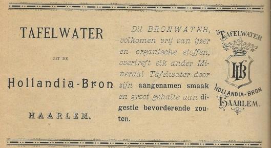 Tafelwater van de Hollandia-bron haarlem