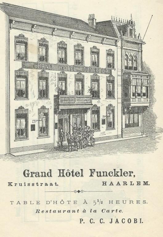 Adv. Grand Hotel Funckler, Haarlem