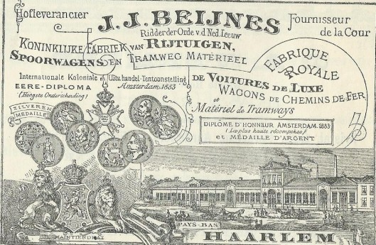 Adv. J.J.Beijnes rijtuigenfabriek Haarlem