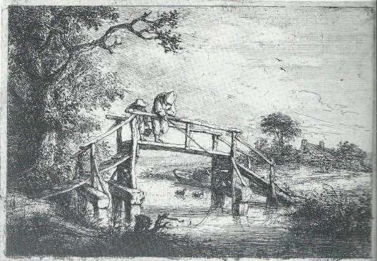 Kwakel in Heemstede op een gravure van Adriaen van Ostade