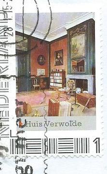 Postzegel met interieur Huis Verwolde