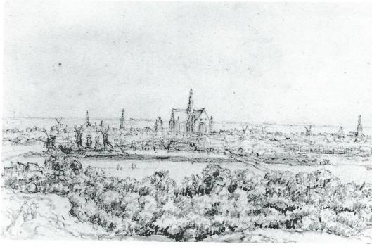 Jacob van Ruisdaal, Gezicht op Haarlem. Museum Bredius Den Haag