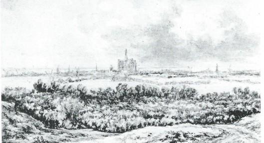 Jacob van Ruisdaal, Gezicht op Haarlem. Rijksprentenkabinet Amsterdam.