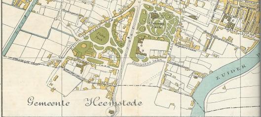 Grens van Haarlen en Heemstede tot de annexatie door Haar lemvan 1927