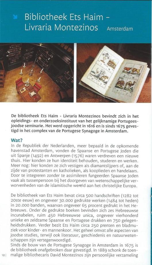 Ets Haim. Uit brochure: Ontdek de documenten om België, Nederland en Luxemburg. UNESCO Memory of the World (Lannoo)