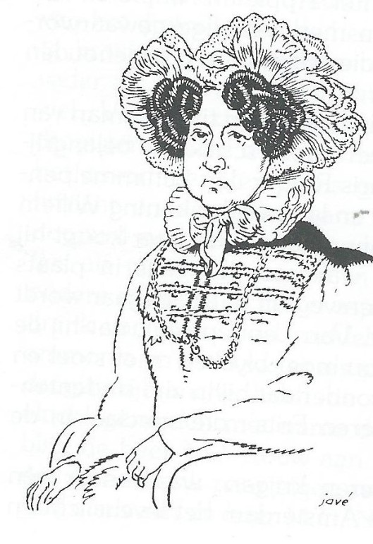 Tekening door Jové van echtgenote Catharina van Wickevoort-Crommelin-van Lennep (1766-1847), met bijnaam 'Ampie'