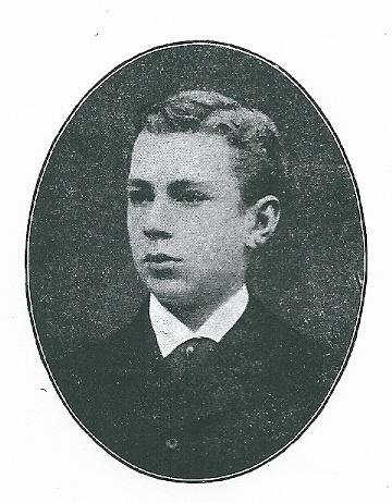 jonkheer Bernard Cornelis van Lennep als student in de rechten bij professor Noorthey. Hij promoveerde in 1890 tot doctor in de rechtswetenschap te Utrecht