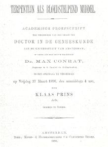 Titelblad van proefschrift dr. K. Prins