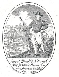 Glasschilderijtje van blaker Gerrit Dirksz de Munck, 1658