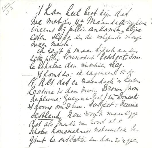 Schrijven van Apie Prins aan Victor van Vriesland (1)
