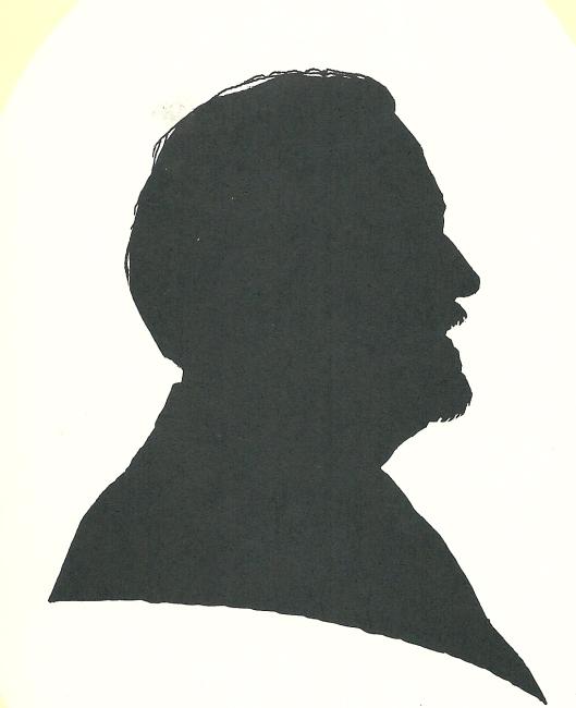 Silhouet en profil van Ab van der Steur, door Pieter Wetselaar, 1995