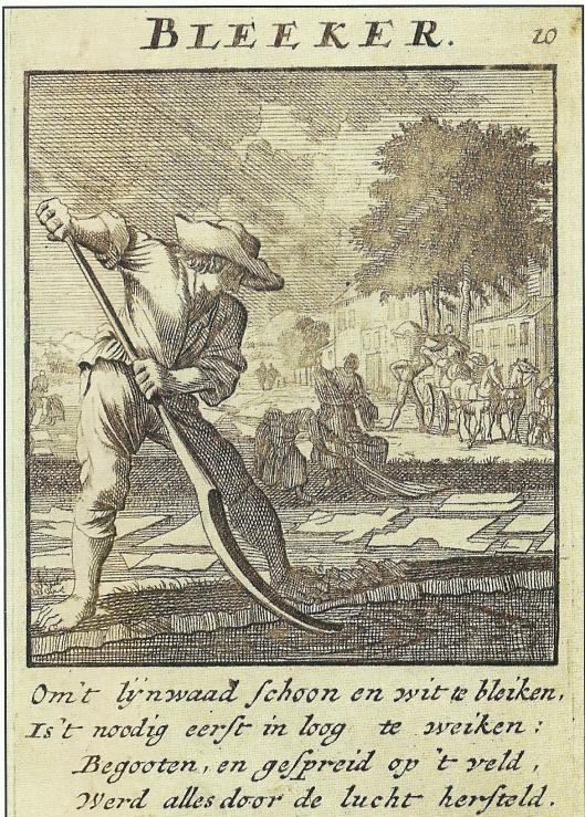 Ets van een (lijnwaad)bleker van Jan Luyken uit 1694