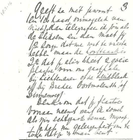 Vervolg schrijven van Apie Prins aan Victor van Vriesland (3)