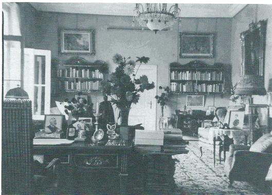 De werkkamer van de Duitse keizer in ballingschap in Doorn (P.J.Bussen, de keizer (woonde) in Nederland, 2013)