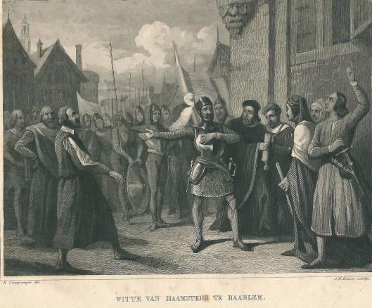 Witte van Haamtede te Haarlem. Naar tekening van  R.Craayvanger in staalgrare door J.W.Kaiser (Arend, Geschied. deel 1)