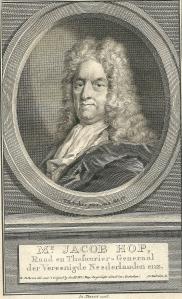 Mr. Jacob Hop. Portretgravure van J.Houbraken