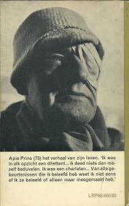 Achteromslag paperbackuitgave Apie Prins 1963