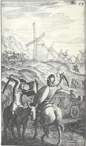 Nog een gravure van Don Quichot vertaald door Lambert van den Bos uit 1657