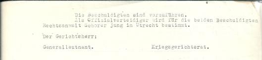 Vervolg Duitse aanklacht tegen E.Spreeuw en A.A.van Amerongen. Utrecht, 12-11-1941.