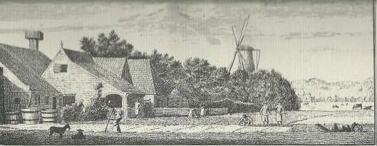 'Gezigt van de garenbleekerijen, aan de Nieuwe Cingel' Naar C. van Noorde. 1762