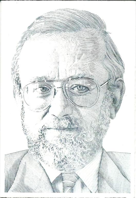 Portret door Pieter Wetselaar van Ab van der Steur (Haarlem 3 mei 1938 - 14 november 2012)