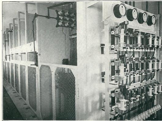 Interieur van het in 1928 nieuwe hoofdschakelstation aan de Herenweg Heemstede