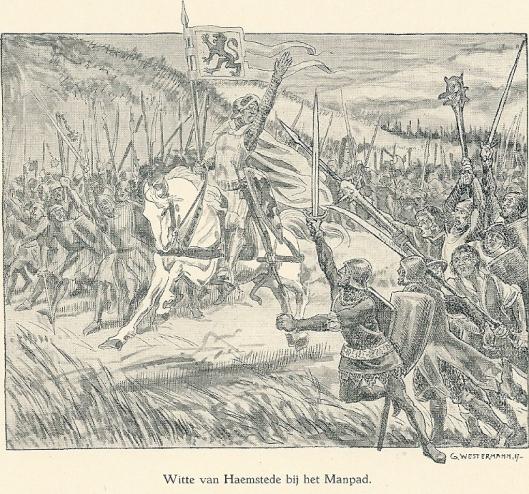Witte van Haemstede bij het Manpad . Illustratie van G.Westermann